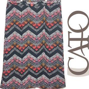 CATO Zig-Zag Maxi Skirt